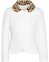 Chaqueta de leopardo blanca de Maison Margiela