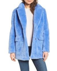 Chaqueta de piel azul