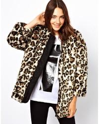 Chaqueta de piel de leopardo en beige de B+ab