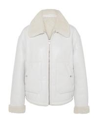 Chaqueta de piel de oveja blanca de McQ Alexander McQueen