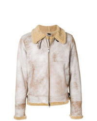 Chaqueta de piel de oveja en beige de Giorgio Brato