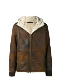 Chaqueta de piel de oveja en marrón oscuro de Salvatore Santoro