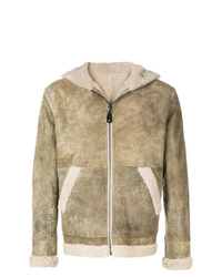 Chaqueta de piel de oveja marrón claro de Yves Salomon Army