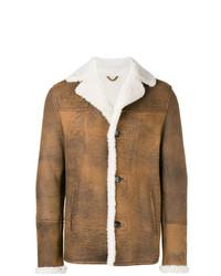 Chaqueta de piel de oveja marrón de Desa 1972