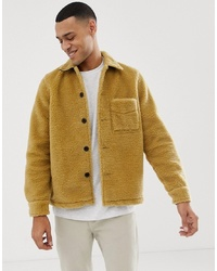 Chaqueta de piel de oveja mostaza de Nudie Jeans