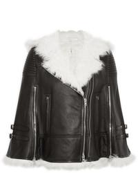 Chaqueta de Piel de Oveja Negra y Blanca de Givenchy