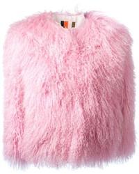 Chaqueta de piel rosada de MSGM