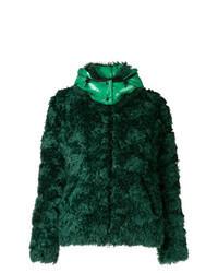 Chaqueta de piel verde oscuro