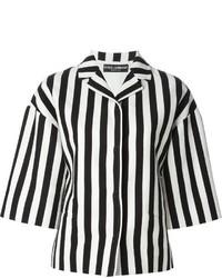 5f88081c1 Comprar una ropa de abrigo de rayas verticales en blanco y negro ...