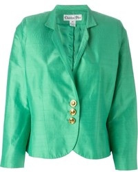 Chaqueta de satén verde de Christian Dior
