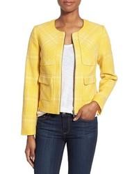 Chaqueta de tweed amarilla