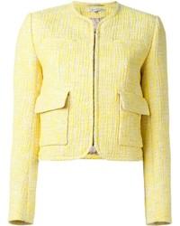 Chaqueta de Tweed Amarilla de Carven