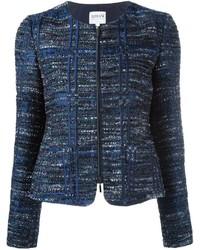 Chaqueta de tweed azul marino de Armani Collezioni