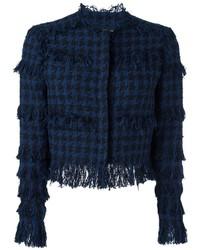 Chaqueta de tweed azul marino de MSGM