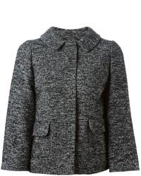 Chaqueta de tweed en gris oscuro de Dolce & Gabbana
