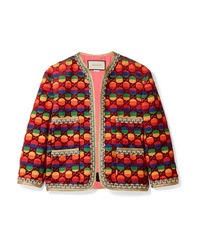 Chaqueta de tweed en multicolor de Gucci