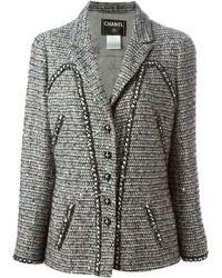 Chaqueta de tweed gris de Chanel