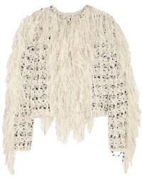 Chaqueta de tweed gris de Lanvin