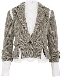 Chaqueta de tweed gris de Sacai