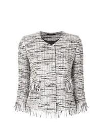 Chaqueta de tweed gris de Tagliatore