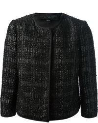 Chaqueta de tweed negra