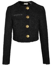 Chaqueta de tweed negra de Balenciaga