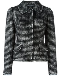 Chaqueta de Tweed Negra de Dolce & Gabbana