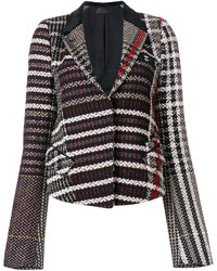 Chaqueta de tweed negra de Haider Ackermann