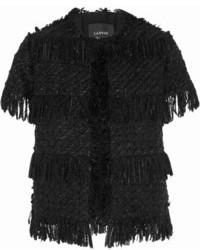 Chaqueta de tweed negra de Lanvin