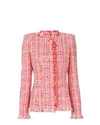 Chaqueta de tweed roja de Alexander McQueen