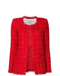 Chaqueta de tweed roja de IRO
