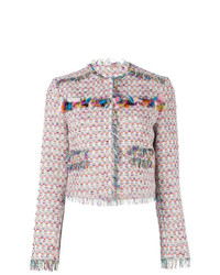 Chaqueta de tweed rosada de MSGM