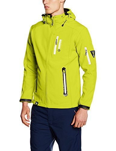 Chaqueta estampada en amarillo verdoso de Geographical Norway