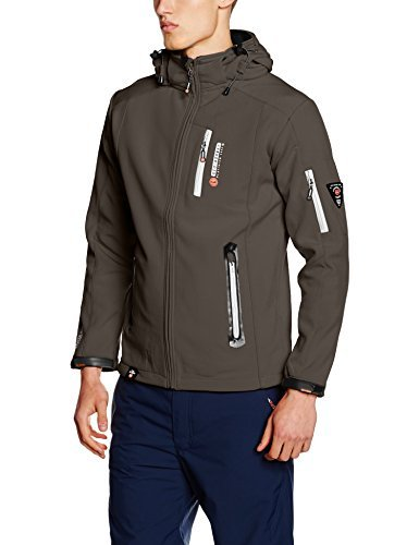 Chaqueta estampada en gris oscuro de Geographical Norway