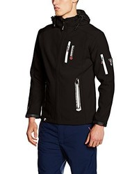 Chaqueta estampada negra de Geographical Norway