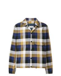 Chaqueta estilo camisa a cuadros en multicolor de Golden Goose Deluxe Brand