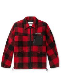 Chaqueta estilo camisa a cuadros en rojo y negro