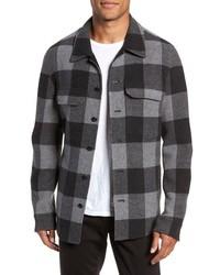 Chaqueta estilo camisa a cuadros gris
