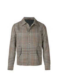Chaqueta estilo camisa a cuadros marrón de AMI Alexandre Mattiussi