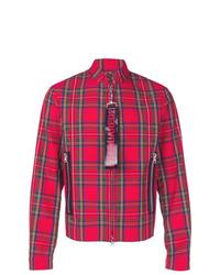 Chaqueta estilo camisa a cuadros roja de DSQUARED2