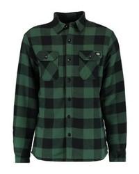 Chaqueta estilo camisa a cuadros verde oscuro de Dickies