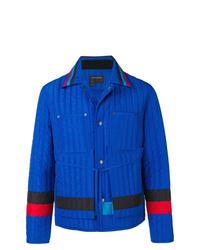Chaqueta estilo camisa acolchada azul