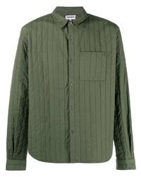 Chaqueta estilo camisa acolchada verde oliva de Kenzo