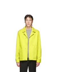 Chaqueta estilo camisa amarilla de Acne Studios