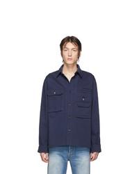 Chaqueta estilo camisa azul marino de Acne Studios