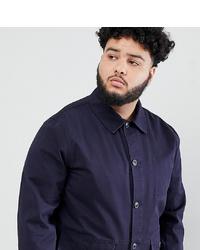 Chaqueta estilo camisa azul marino de ASOS DESIGN