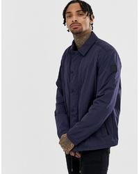 Chaqueta estilo camisa azul marino de BOSS