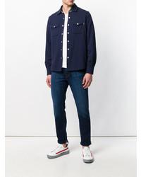 Chaqueta estilo camisa azul marino de Jacob Cohen
