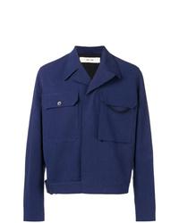 Chaqueta estilo camisa azul marino de Damir Doma