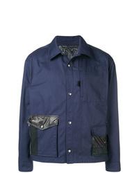 Chaqueta estilo camisa azul marino de Lanvin